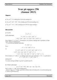 Svar på opgave 296 (Januar 2013) - Emu
