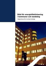 Stöd för energieffektivisering i kommuner och landsting