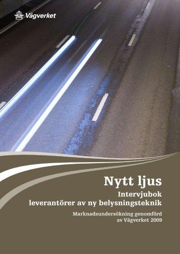 Nytt ljus, intervjubok med leverantörer av ny belysningsteknik