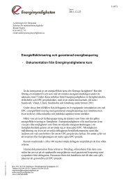 Energieffektivisering och garanterad energibesparing ...