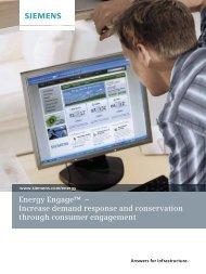Energy Engage™ – Increase demand response ... - Siemens Energy