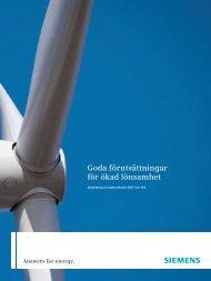 Goda förutsättningar för ökad lönsamhet - Siemens Energy