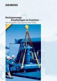 Hochspannungs- Schaltanlagen im Container – die ... - siemens