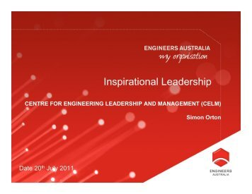Inspirational Leadership - Engineers Australia