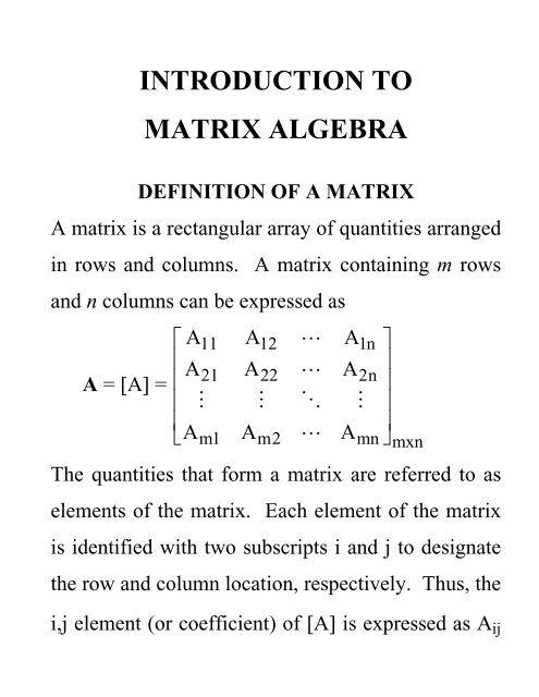 Lecture - Matrix Algebra pdf