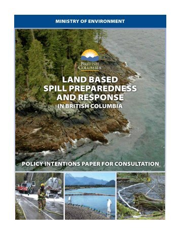 LAND BASED SPILL PREPAREDNESS AND RESPONSE
