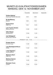 mundtlig kvalifikationseksamen mandag, den 12. november 2007