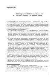 Sidi ASKOFARĒ POLITIQUE, SCIENCE ET PSYCHANALYSE. - ERC