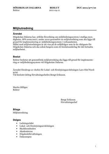 Miljöutredning (pdf) - Högskolan Dalarna