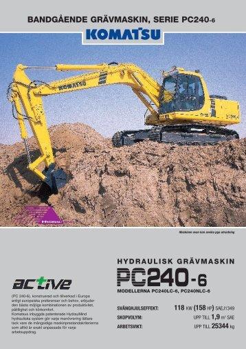 PC240 6 - Komatsu Europe