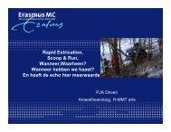 Rapid Extrication, Scoop en Run wanneer waarheen-1 - Erasmus MC