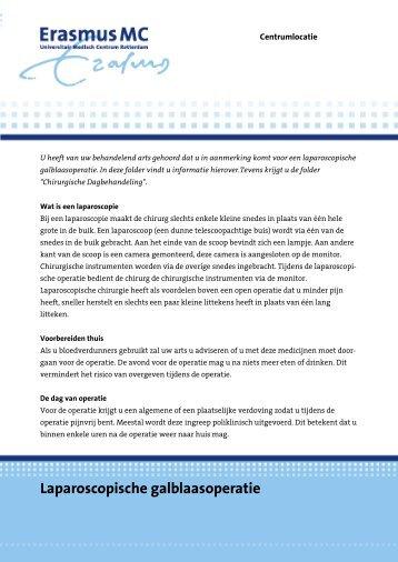Laparoscopische galblaasoperatie - Erasmus MC