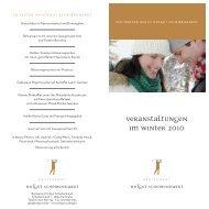 Veranstaltungen im winter 2010 - Hotel-Restaurant Erbprinz