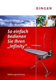Anleitungsbuch Bügeltisch Singer Infinity 12.05