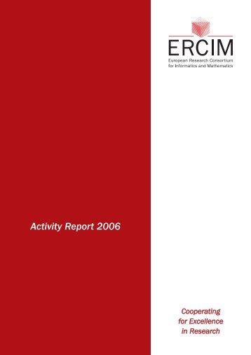 Activity Report 2006 - Ercim