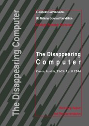 The Disappearing Computer - Ercim