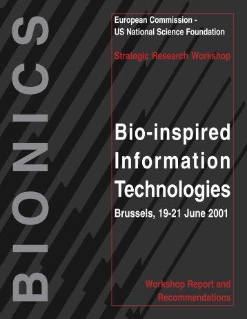 Bionics - Bio-inspired Information Technologies - ERCIM