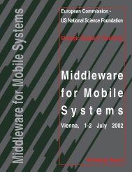 Middleware for Mobile Systems - Ercim