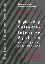 Challenges for Engineering Software-Intensive Systems - Ercim