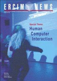 Human Computer Interaction - ERCIM