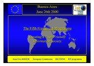 Jean-Yves ROGER European Commission DG INFSO IST ... - Ercim