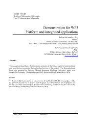 Demonstration for WP3 Platform and integrated applications - Ercim