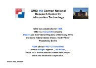 GMD: the German National Research Center for Information - ERCIM