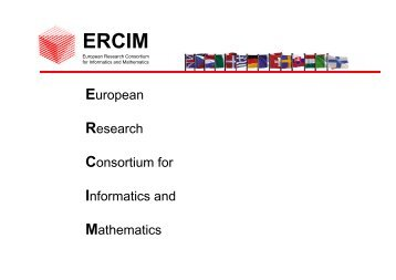 European Research Consortium for Informatics and ... - Ercim