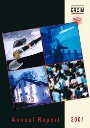 Annual Report 2001 - ERCIM