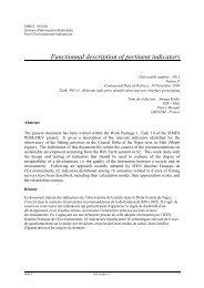 Functionnal description of pertinent indicators - ERCIM