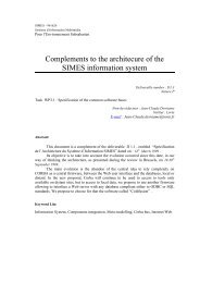 Complements to the architecure of the SIMES information ... - Ercim