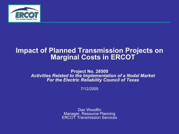 Impact of Planned Transmission Projects on Marginal ... - ERCOT.com
