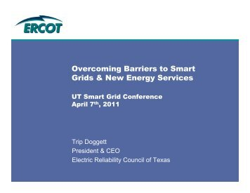Overcoming Barriers to Smart Grids & New Energy ... - ERCOT.com