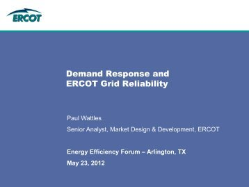 Demand Response and ERCOT Grid Reliability - ERCOT.com