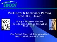 Wind Energy & Transmission Planning in the ERCOT ... - ERCOT.com