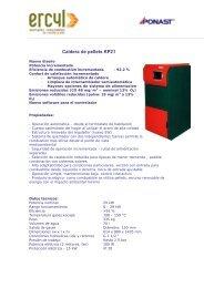 Caldera de pellets KP21 - Ercyl.com