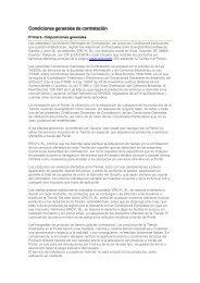 Condiciones generales de contratación - Ercyl.com