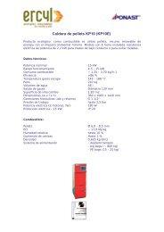 Caldera de pellets KP10 (KP10E) - Ercyl.com