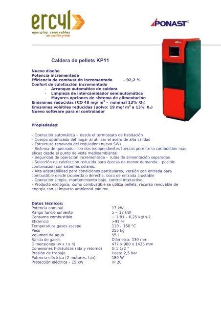 Caldera de pellets KP11 - Ercyl.com