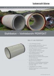 Stahlbeton – Vortriebsrohr PERFEKT - Betonwerk Bieren