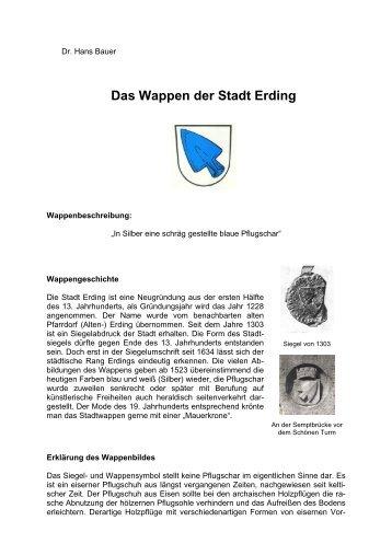 Dr. Hans Bauer über das Erdinger Wappen - Stadt Erding
