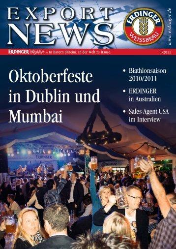 Oktoberfeste in Dublin und Mumbai - Erdinger