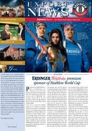 premium sponsor of Biathlon World Cup - Erdinger