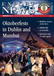 Oktoberfests in Dublin and Mumbai - Erdinger