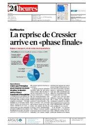 La reprise de Cressier