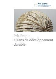 Prix Evenir 10ans de développement durable