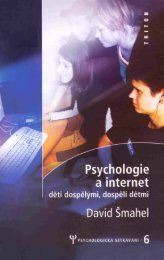 Psychologie a internet - eReading