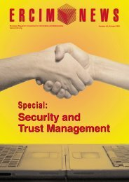 Security and Trust Management Security and Trust ... - Ercim