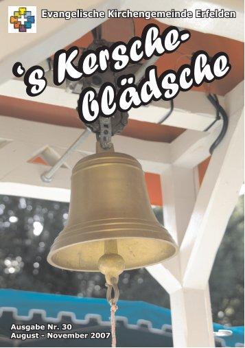 Liebe Leserinnen und Leser! - Evangelische Kirchengemeinde ...