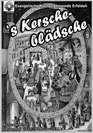 Evangelische Kirchengemeinde Erfelden Ausgabe Nr. 43 Dezember ...